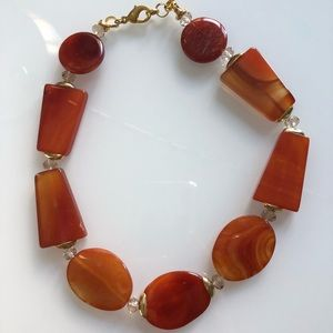 Gorgeous Amber Beaded Necklace 18""